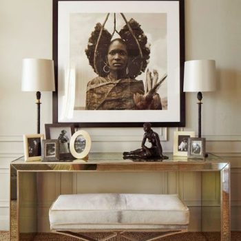 african-art-console-table